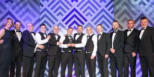 Lanarkshire business excellence awards 2017. Allstar joinery, best family business 2017