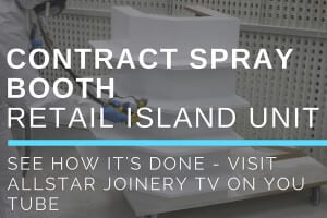 Allstar Joinery Contract Spray Booth Retail Island Unit