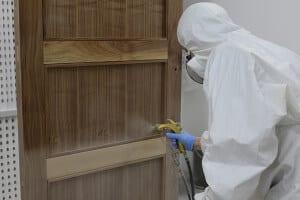 Spraying Door