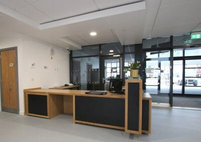School reception desk