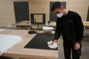 Corian worktop surface preparation