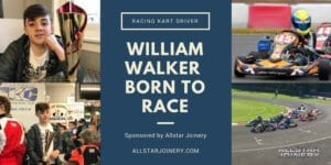 Images of William Walker racing kart driver