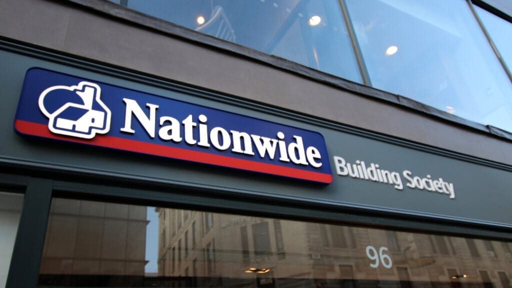 Nationwide Building Society front entrance signage