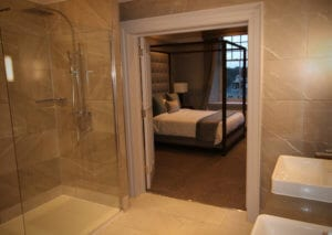 Castlecary House Hotel, hotel room and bathroom refurbishment