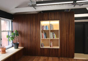 Bespoke wall panelling office fit-out in Glasgow